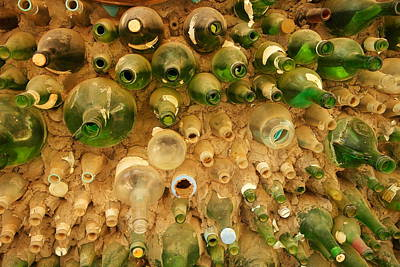 Hand Made Photograph - Bottles In The Wall by Jeff Swan