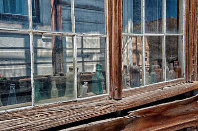 Bottles In The Window Art Print