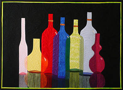 Tapestry - Textile - Bottles by Jo Baner