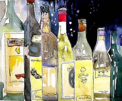 Painting - Bottles No 1 by Esther Woods