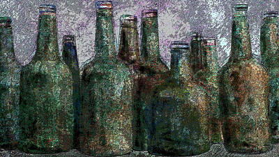 Digital Art - Bottles Of Color by I'ina Van Lawick