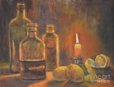 Painting - Bottles Of Light by Jana Baker