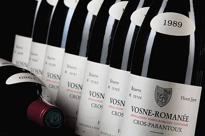 Cellar Photograph - Bottles Of Vosne-romanee Premier Cru Cros Parantoux by Anonymous