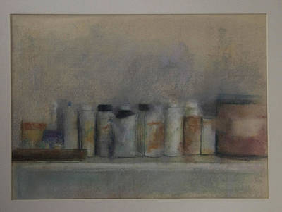 Bottles On A Shelf Art Print