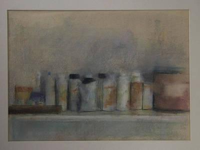 Bottles On A Shelf Art Print by Paez  Antonio