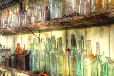 Jerry Sodorff Royalty-Free and Rights-Managed Images - Bottles On The Shelf 124 by Jerry Sodorff
