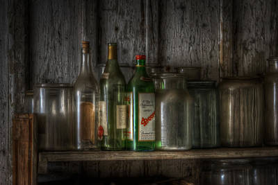 Creepy Digital Art - Bottles On The Wall by Nathan Wright