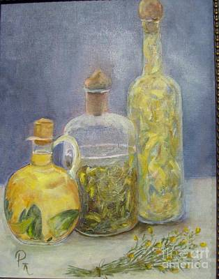Painting - Bottles by Pat Craft