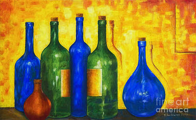Traditional Still Life Painting - Bottless by Veikko Suikkanen