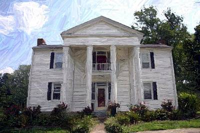 Bottom-mcafee-guthrie House - Perryville Ky Art Print by Thia Stover