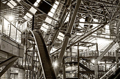 Photograph - Bottom Of A Gigantic Ferris Wheel In Sepia by Beverly Claire Kaiya