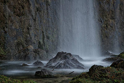 Photograph - Bottom Of A Waterfall by Stuart Litoff