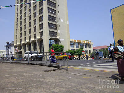 Art Print featuring the photograph Bottom Up Sierra Leone Commercial Bank by Mudiama Kammoh