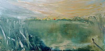 Painting - Bottomless Lake by David Figielek