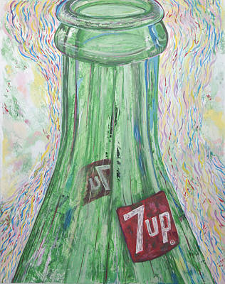 7 Up Painting - Bottoms Up by Gabe Arroyo