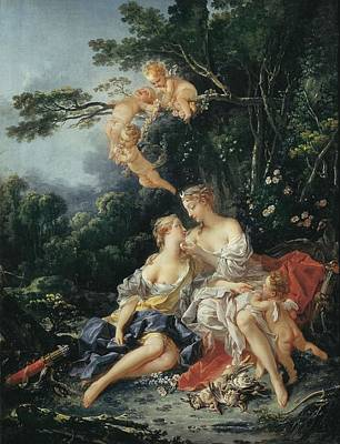 Child With Flowers Photograph - Boucher, Fran�ois 1703-1770. Jupiter by Everett