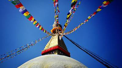 Photograph - Boudhanath Stupa In Kathmandu by Greg Holden