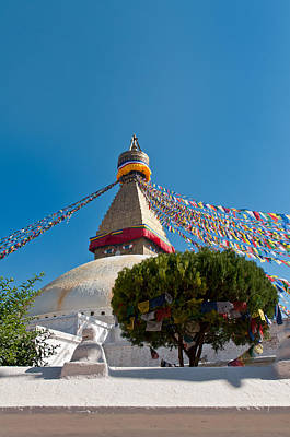 Photograph - Boudhanath Stupa In The Kathmandu Valley In Nepal  by U Schade