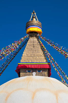 Photograph - Boudhanath Stupa In The Kathmandu Valley by Ulrich Schade