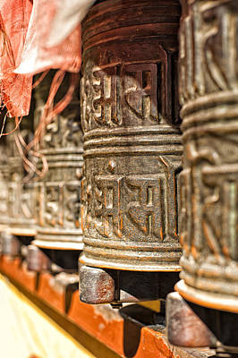 Photograph - Boudhanath Temple Bells  by U Schade