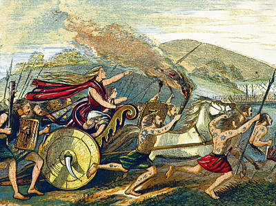 Boudicca Photograph - Boudica Leading British Tribes, 60 Ad by British Library