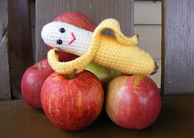 Amigurumi Photograph - Boudoir Banana by Brooke Cary