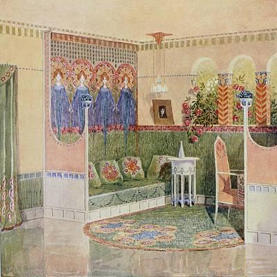 Boudoir, From A Villa In Helsinki Art Print by .