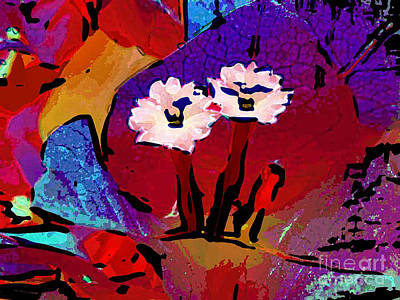 Digital Art - Bougainvillea 2 by Dee Flouton