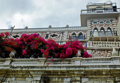 Bougainvillea On Balcony In Lisbon  Art Print