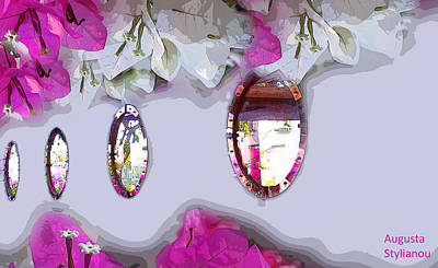 Photograph - Bougainvilleas In Reflection by Augusta Stylianou