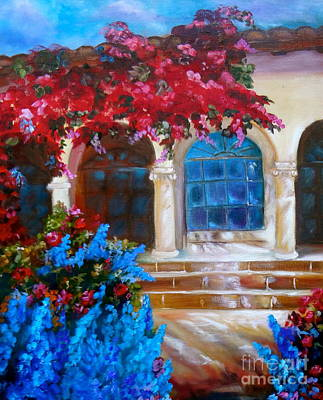 Bouganvellea Hacienda Art Print