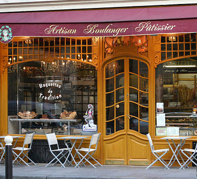 Photograph - Boulangerie by A Morddel