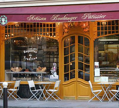 Boulangerie Print by A Morddel