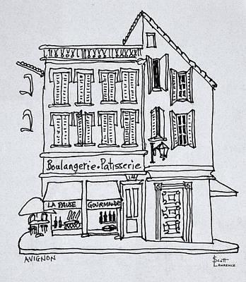 Patisserie Photograph - Boulangerie Patisserie, Avignon, France by Richard Lawrence