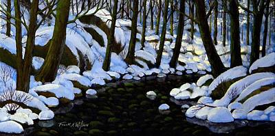 Painting - Boulder Brook In Winter by Frank Wilson