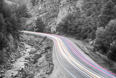 Black And White Art Photograph - Boulder Canyon Drive And Selective Commute  by James BO  Insogna