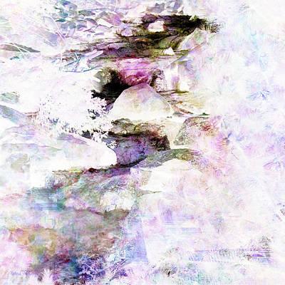 Digital Art - Boulder Canyon Winter Runoff by Barbara Berney