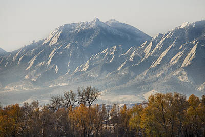 Photograph - Boulder Colorado Flatirons Country Fall View by James BO Insogna