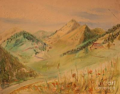 Boulder Colorado Painting Art Print