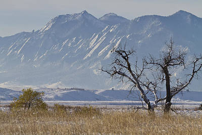 Photograph - Boulder Colorado Snowy Front Range View by James BO  Insogna