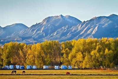 Photograph - Boulder County Colorado Flatirons Autumn View by James BO  Insogna