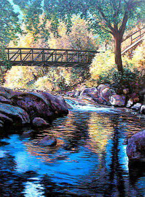 Painting - Boulder Creek Bridge by Tom Roderick