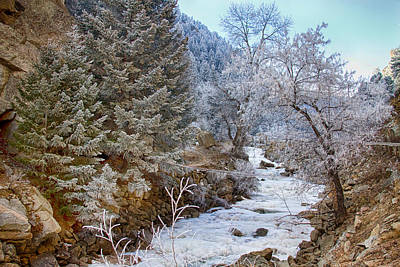 Winter Photograph - Boulder Creek Winter Wonderland by James BO  Insogna