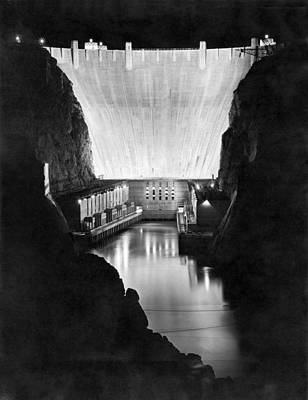 Works Progress Administration Photograph - Boulder Dam by Underwood Archives