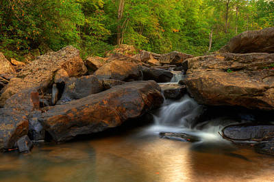 Photograph - Boulder Falls - Appalachian Mountain Area - West Virginia  by Gregory Ballos