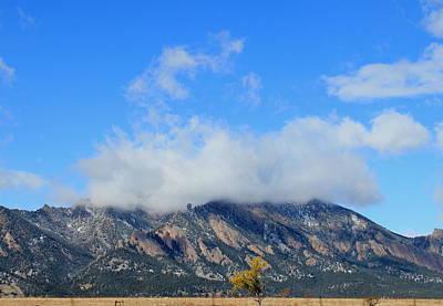 Photograph - Boulder Flatirons Fall by Trent Mallett