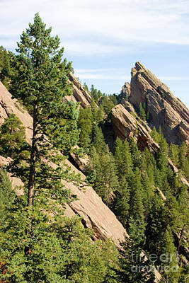 Steven Krull Royalty-Free and Rights-Managed Images - Boulder Flatirons in Chautauqua Park by Steven Krull