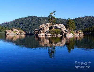 Boulder Island - Big Bear Lake Art Print by Karey and David Photography