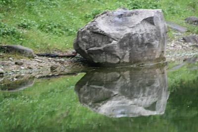 Photograph - 2 Boulders Lac Des Eaux Chaudes by Phoenix De Vries