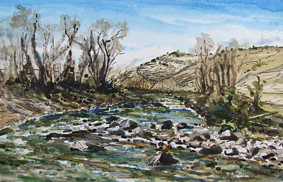 Painting - Boulder River In Montana by Les Herman